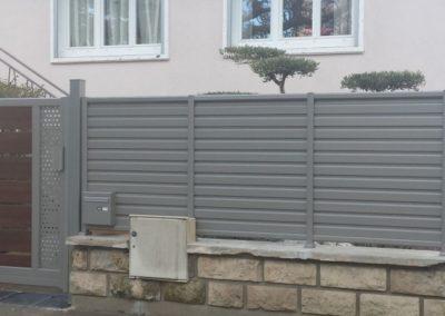 clôtures lames horizontales
