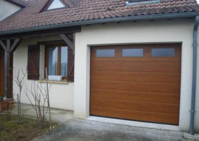 porte de garage couleur bois