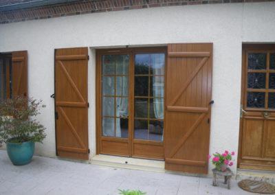 porte fenêtre alu plaxée bois
