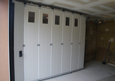 porte de garage rampe led