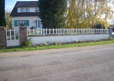 clôture mixte traditionnel contemporain ajourée